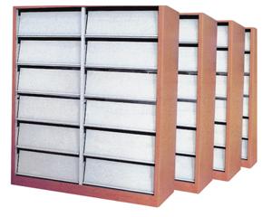HDS-11 木护板双柱单面期刊架