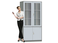 HD-1102 Glass Swing Door Cabinet