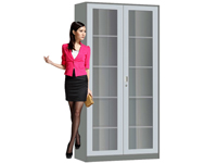 HD-1104 Universal Glass Swing Door Bookcase