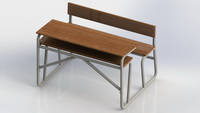 HDZ-29 Student Double School Desk