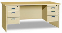 HDZ-A03 Double-Cabinet Office Desk